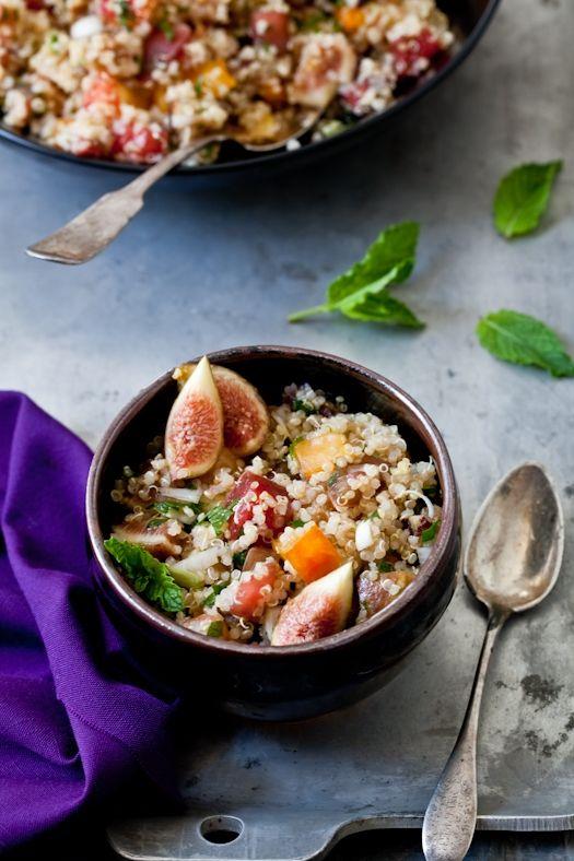 Quinoa and Fig Tabouleh: Tabouleh Recipe, Quinoa Tabbouleh, Figs Tomatoes, Tabouleh Quinoa, Quinoa Salad, Quinoa Tabouleh, Quinoa Amp, Summer Fares, Figs Tabouleh
