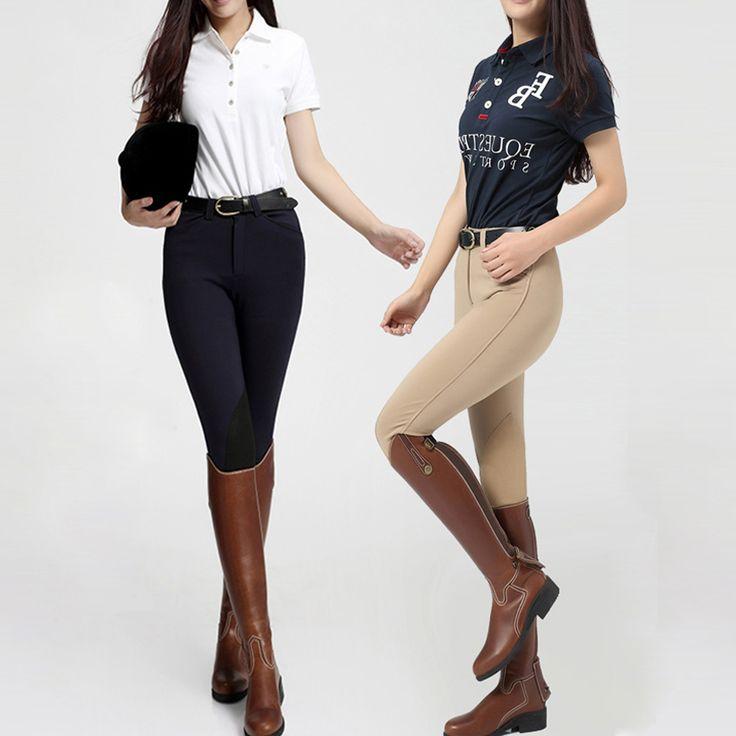 Kobiety/męskie skórzane spodnie bryczesy wysokiej elastyczna Lycra konna jazda konna dla kobiety profesjonalne sportowe spodnie jeździeckie
