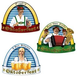 Get ready for Oktoberfest with a little music and a little beer with these festive Oktoberfest Cutouts. Each cutout is made of cardstock material and printed on two sides.