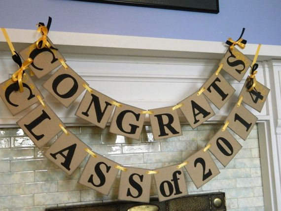 CLASS of 2014 Banner /Graduation Party Decor/ High School Graduation Banner/ Graduation Decor/ photo Prop/ You Pick the Colors