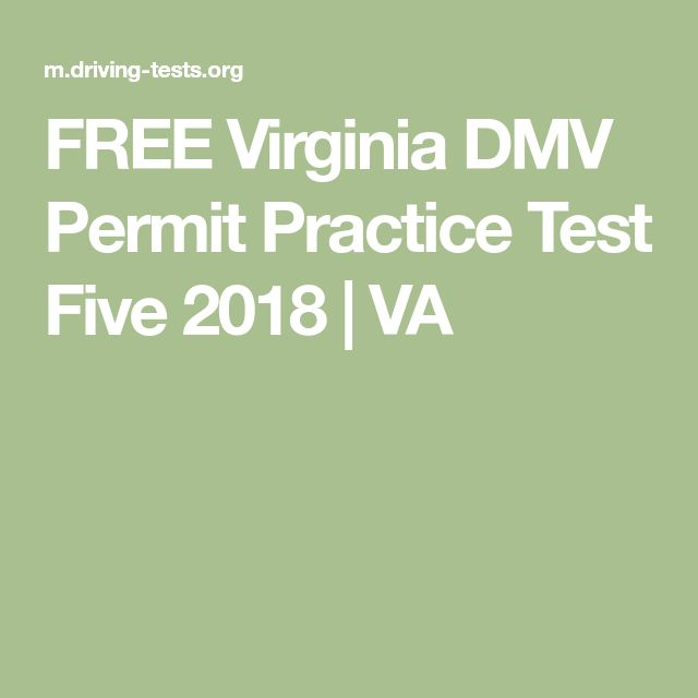 FREE Virginia DMV Permit Practice Test Five 2018 | VA