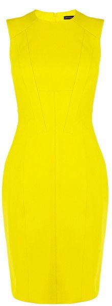 Karen Millen Yellow Sleeveless Dress SS-2015 #SummerLook