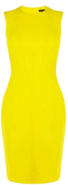 Karen Millen Yellow Sleeveless Dress SS-2015 #SummerLook