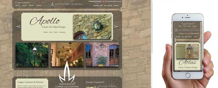 Legendary Lighting website design.