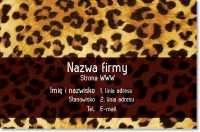 cheetah drukuj leopard drukuj Wizytówki standard