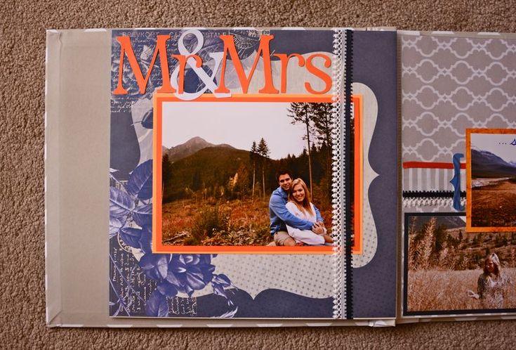 honeymoon scrapbook layout