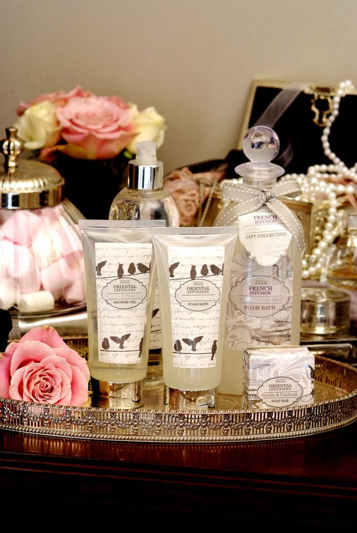 Our French Infusion Range, with scents of Vanilla and Patchouli... lovely!   #surpriseme #body #gifts #ideas #infusions #lotion #foambath #showergel #soaps #bestbuy #products #french #vanilla #patchouli