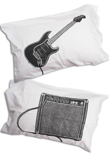 Rock and Roll Bedding | ... Clothing & Vintage Clothes : guitar bedding pillowcases rock and roll