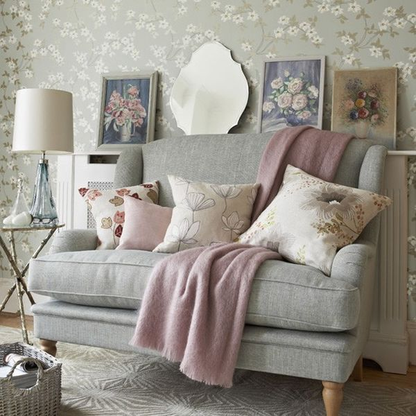 Perfect place to curl up with a book after a day of play in the snow!  modern pastels + florals  #CDNGetaway!