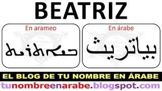 Escribir Beatriz en Arameo