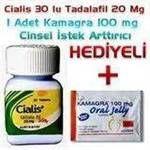 Cinsel Ürünler Cialis 20 mg 30 Tablet ve Kamagra Jel Cinsel Performans Arttırıcı