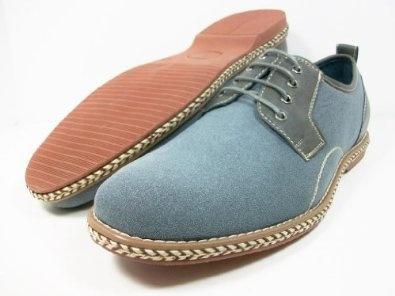 ferro aldo light blue gray round toe two tone oxford mens