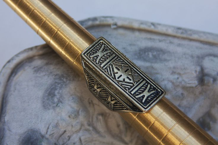 Aztec Style Brass Ring Size 7.5 Ladies Gift Fashion Jewellery Embossed Ring | eBay
