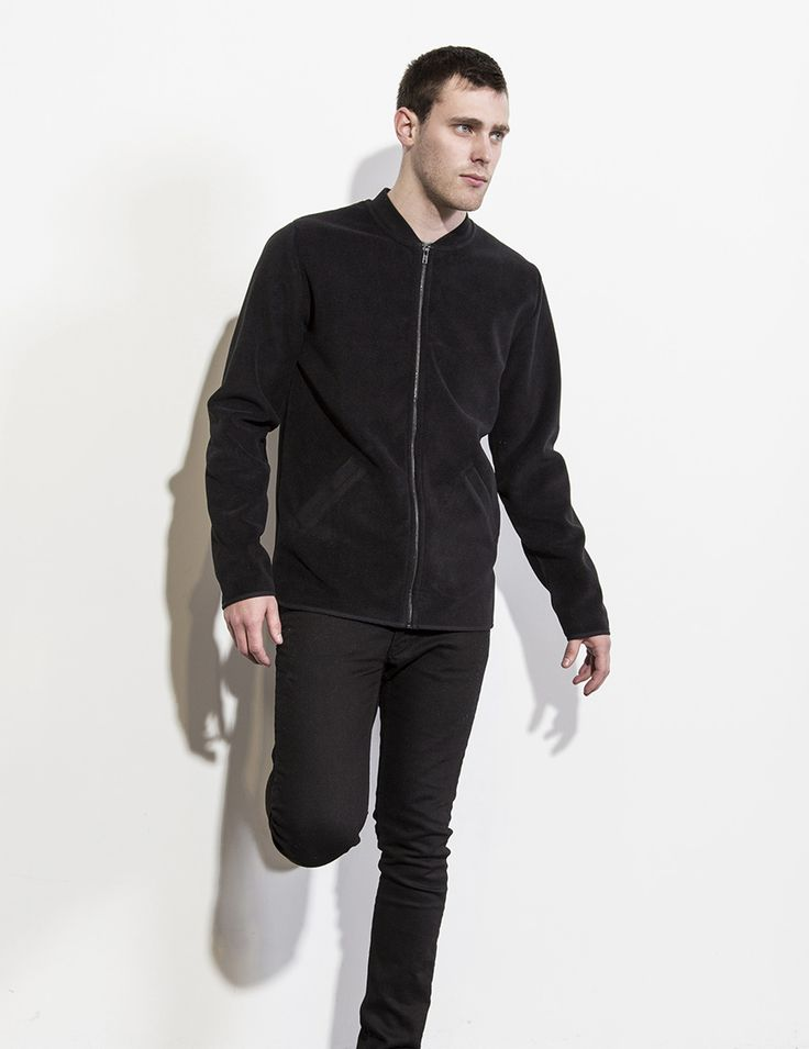 RVLT - men's fashion. A polyester fleece fabric with a soft cotton jersey.