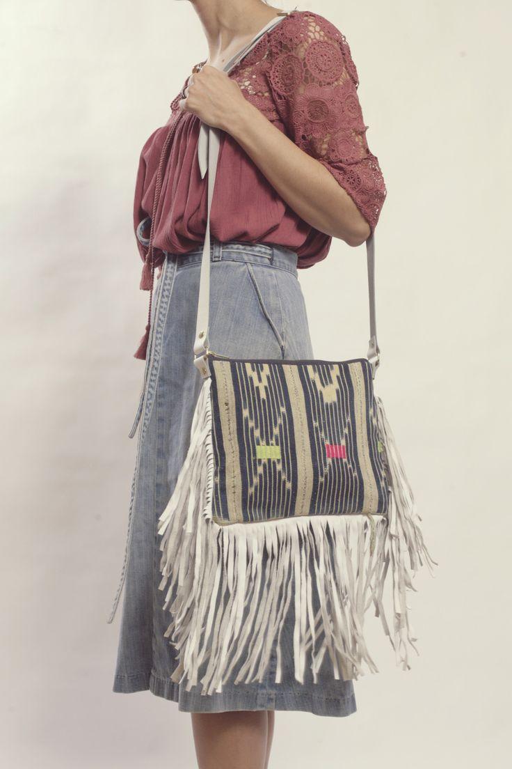 Nomad Fringe Crossbody Bag | Indigo