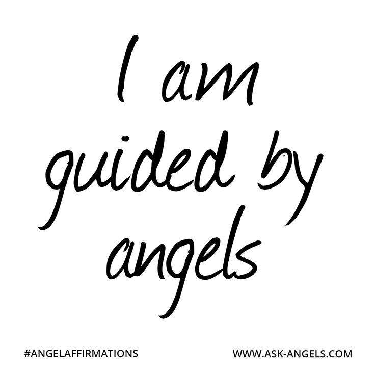 """""""I am guided by angels.""""  #angelaffirmations"""