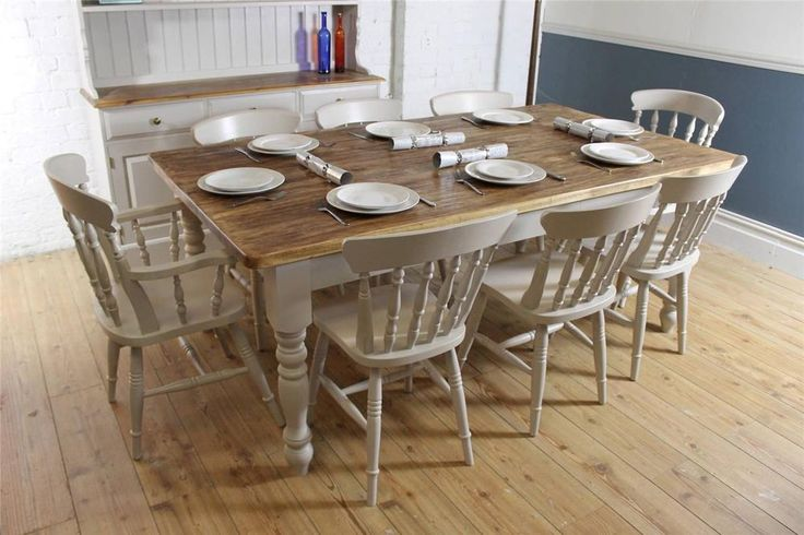 pine dining table and 8 chairs pine dining table dining room solid
