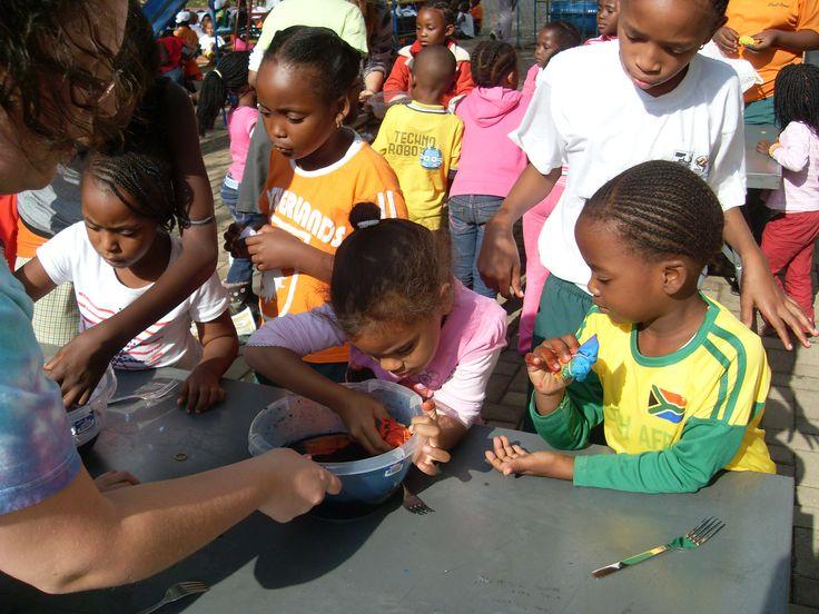 Rainbow T-shirts put smiles on faces! info@dyeandprints.co.za