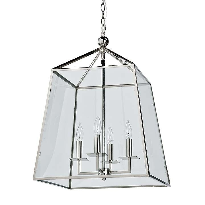 Metal And Glass Lantern From Regina Andrew Design LightingChandelier