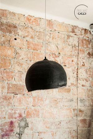 """Lampa z bandaza gipsowego - Gościnny wpis: Ania z bloga """"Projekt Cacko""""   Wkręceni w dom"""