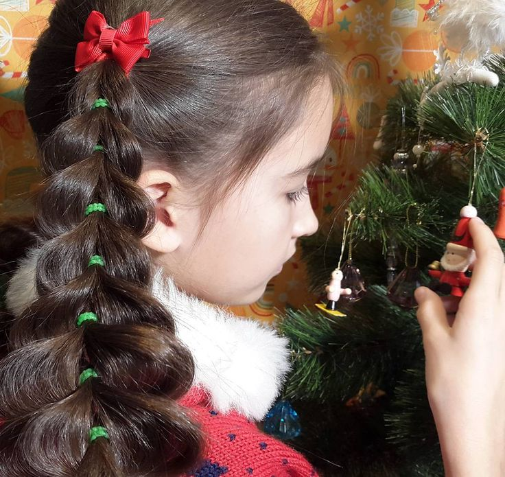 Новогодняя прическа 《Елки》. Объемная французская коса на резиночках. // New Year Tree braid, pull-through braid.  https://www.youtube.com/watch?v=6hNnqaHevWg