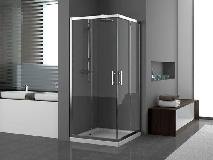Box doccia angolare in vetro ZEPHYROS Collezione Zephyros