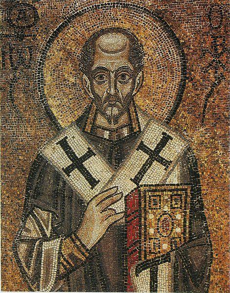 Софийский собор, Иоанн Златоуст. Мозаика, XI век