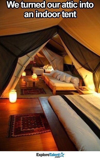 Attic ---> sleepover goals More