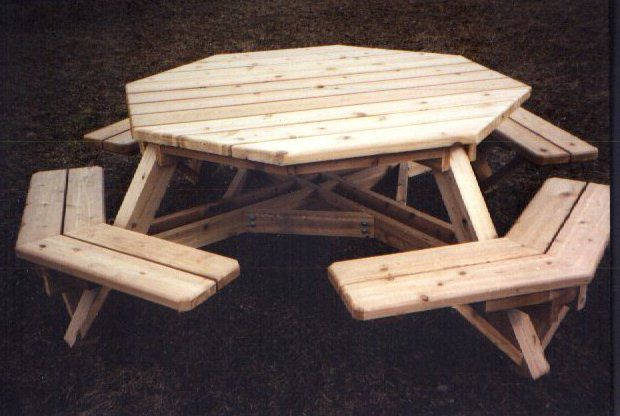 Free Octagon Picnic Table Plans With Umbrella Hole ...