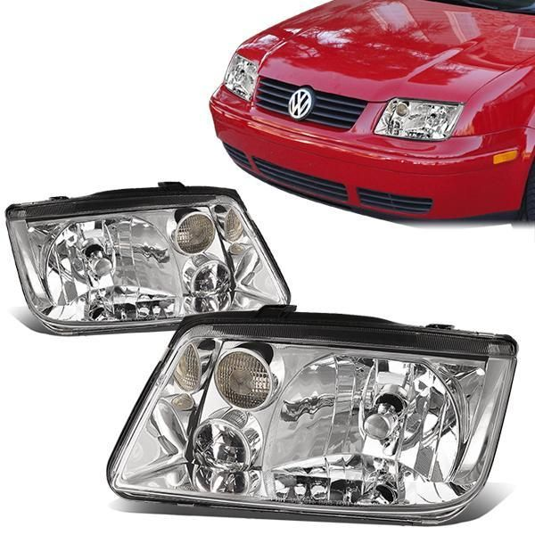 99 05 Volkswagen Vw Jetta Mk4 Headlights Chrome Housing Volkswagen Vw Jetta Headlights