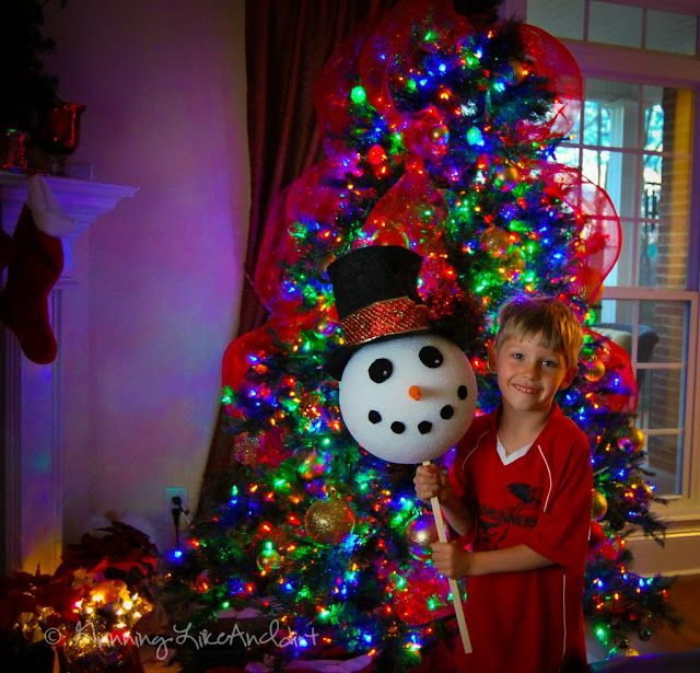 How to Make a Snowman Tree Topper | Grinning Like An Idiot