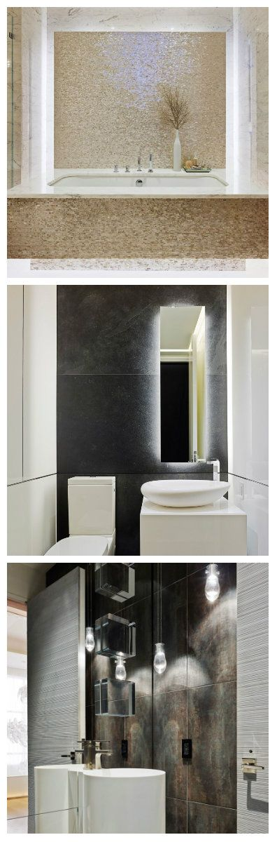 Просторная ванная с высокими потолками оформлена множественной подсветкой двойных стен, зеркал, предметов интерьера и сантехники. Часть помещения предназначенная для релаксации в объятиях пены джакузи, выполнена в светлых бежевых тонах. #освещение #подсветка #светодиоды #светодизайн #ванна #ванная #дизайн #дизайнванны #дизайнваннойкомнаты #лампы #светодиоднаяподсветка #светодиодноеосвещение #дизайнквартир #дизайнинтерьера #свет