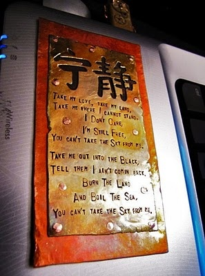 Ohmigoodness, I want this as the plaque by my front door where everyone will see it when they come in my house.