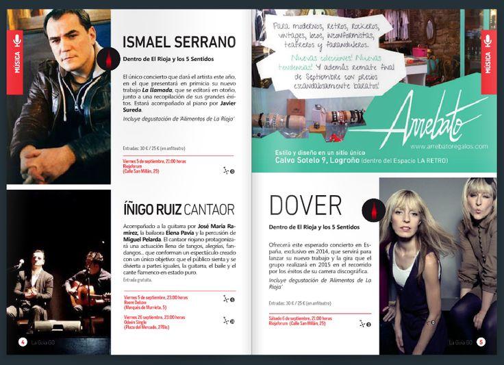 Publicidad en la Guía Go! para el concierto de la Room Deluxe de septiembre.