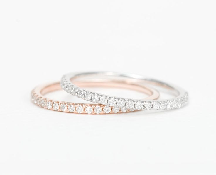 White Gold For Wedding Band Rose First Anniversary