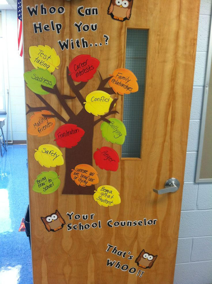 School counselor office door decoration.