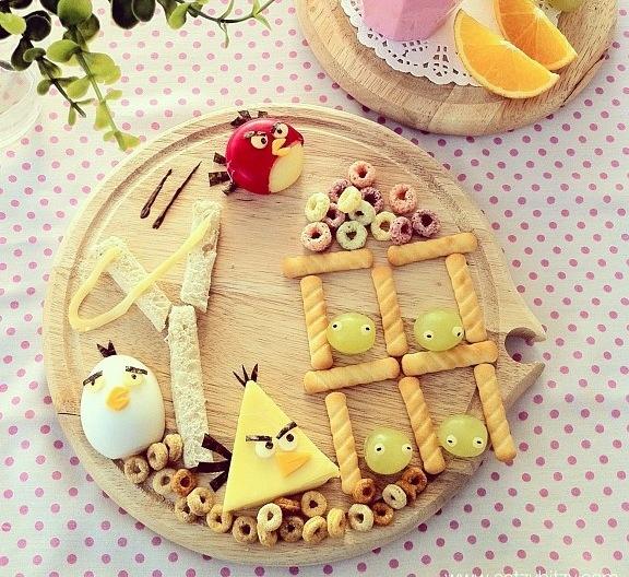 Uma ideia de comida divertida: Angry Birds.