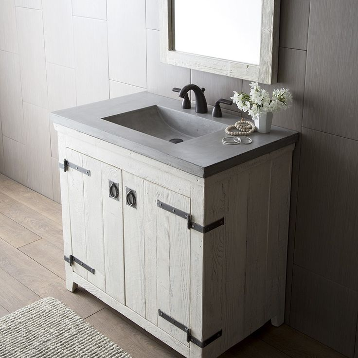 native trailsu0027 palomar vanity suite features a concrete vanity top with integral sink the