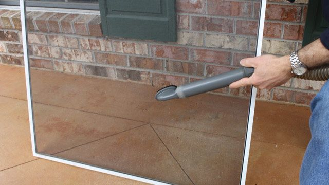 Use the upholstery brush attachment on your vacuum to clean your window screens!