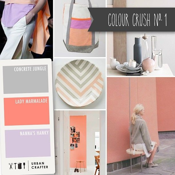 Urban Crafter Colour Crush Mondays. www.urbancrafter.com.au  Colour Crush #1 Get a similar look with Urban Crafter acrylic paints 'Concrete Jungle', 'Lady Marmalade' & 'Nanna's Hanky'
