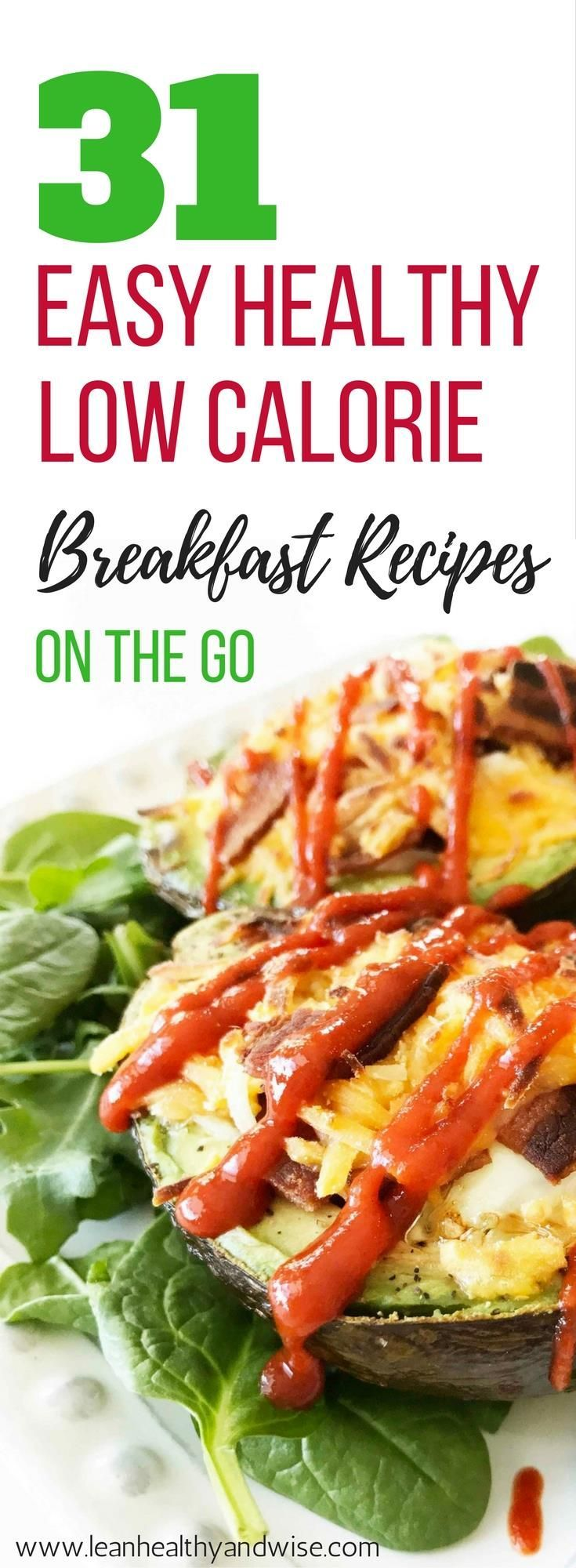 Here are some quick and healthy low calorie breakfast recipes on the go that are great for weight loss and contain fewer than 300 calories. via /leanhealthywise/