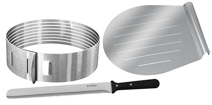 Zenker Stainless Steel Layer Cake Slicing Kit