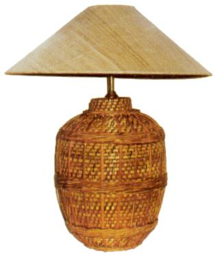 Crafts Of Nagaland Woven Cane Bamboo Lamp Indian Handicrafts