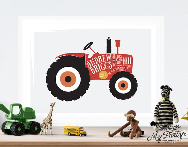 Personalised Tractor Wall Art