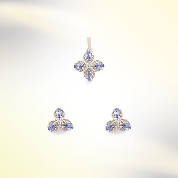 Tanzanite Pendant Set | Gemporia India