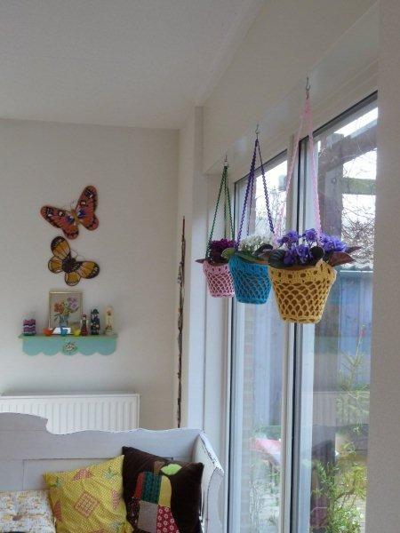 crocheted plant hangers