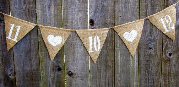 Save the Date Burlap Bunting $16