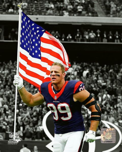Jj Watt Houston Texans 2015 Nfl Spotlight Action Photo Sn180 (Select Size)