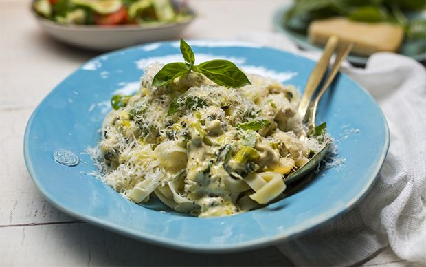 Recipe Details : Chicken Tagliatelle with Creamy Green Peppercorn Sauce by Fine Living EMEA