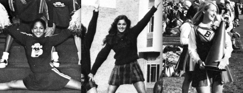 Famous Girl Cheerleaders? The list goes on and on and includes Meryl Streep, Ann-Margret, Sally Field, Alicia Silverstone, Halle Berry, Katie Couric, Vanna White, Raquel Welch, Sandra Bullock, and Cybill Shepherd.  Madonna was a cheerleader (and a straight A student, too!). Even Supreme Court Justice Ruth Bader-Ginsberg (!!!) was once a cheerleader.